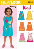 New Look 6504 CHILD'S DRESSES