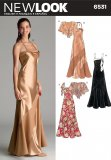 New Look 6531 MISSES' BIAS EVENING GOWNS AN