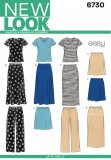 New Look 6730 MISSES TOP, SKIRT, AND PANTS