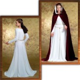 Butterick 4377 - Medieval Dress and Hooded Cape Pattern