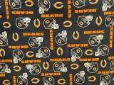 Wholesale Logo Polar Fleece - Chicago Bears Fabric - Allover Print #6321-D  10yds