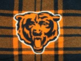 Wholesale Logo Polar Fleece - Chicago Bears Plaid Fabric #6411 - 10yds