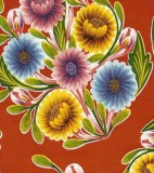 Wholesale Oilcloth - Bloom Red - 12 yds