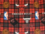 Chicago Sports Fleece - Bulls Plaid #82CHI00005A