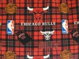 Wholesale Chicago Sports Fleece - Bulls Plaid - #82CHI00005A,   12yds