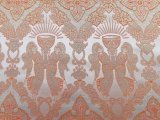 Church Brocade #1206 - Chalice Angels - Orange-Gold