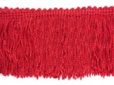 Wholesale Rayon Chainette Fringe - Red #12 - 15 inch  -  18 yards