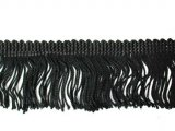 Rayon Chainette Fringe - Black #2, 2 inch