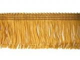 Wholesale Rayon Chainette Fringe - Mustard Gold #3 - 4 inch  -  36 yards