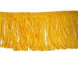 Rayon Chainette Fringe - Flag Gold #16, 6 inch
