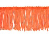 Rayon Chainette Fringe - Florescent Orange, 6 inch