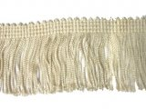 Rayon Chainette Fringe - Ivory #26 - 6 inch