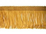 Rayon Chainette Fringe - Mustard Gold #3 - 6 inch