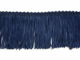 Wholesale Rayon Chainette Fringe - Navy #21 - 6 inch  -  18 yards