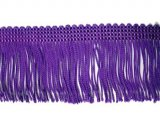 Wholesale Rayon Chainette Fringe - Purple #33, 6 inch  - 18 yards
