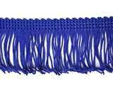 Wholesale Rayon Chainette Fringe - Royal #10, 6 inch   -  18 yards