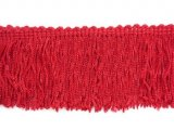 Wholesale Rayon Chainette Fringe - Red #12 -  6 inch  -  18 yards