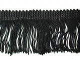 Wholesale Rayon Chainette Fringe - Black #2,  9 inch  -  18 yards