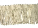 Rayon Chainette Fringe - Ivory #26 - 9 inch