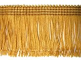 Wholesale Rayon Chainette Fringe - Mustard Gold #3 - 9 inch   -  18 yards