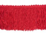 Wholesale Rayon Chainette Fringe - Red #12 - 9 inch  -  18 yards