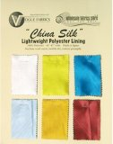 Color Card - China Silk Polyester Lining