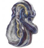 Merino Wool and Silk Tussah Roving - Concord
