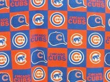 Wholesale Logo Polar Fleece - Chicago Cubs - Block Print #6526-D   10yds