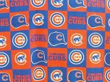 Chicago Cubs Fabric - Polar Fleece - Block Print #6526-D