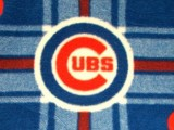Wholesale Logo Polar Fleece - Chicago Cubs Plaid Polar Fleece #6612 - 10yds