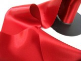 "Wholesale Double Faced Satin Ribbon - 3.75"" Red #108 - 27.5 yards"