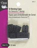Dritz 12 Boning Caps - For Flexicurve™ Boning - Black #1