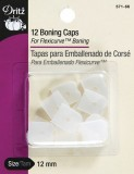 Dritz 12 Boning Caps - For Flexicurve™ Boning - White #66