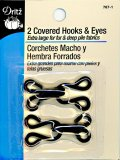 Dritz 2 Covered Hooks and Eyes 767-blk