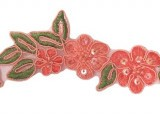 "Beaded Trim - Elizabeth Collection 1 1/2"" - Coral"