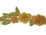 "Beaded Trim - Elizabeth Collection 1 1/2"" - Topaz"