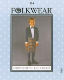 Folkwear #154 Child's Scottish Kilt & Jacket