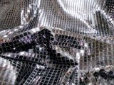 Faux Sequin Knit - Squares - Black