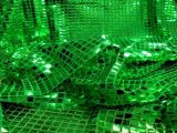 Faux Sequin Knit - Squares - Flag Green