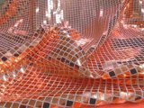 Faux Sequin Knit - Squares - Orange