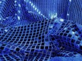 Faux Sequin Knit - Squares - Royal