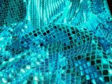 Wholesale Faux Sequin Knit - Squares - Turquoise 25 yards