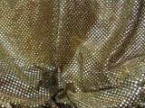 Faux Sequin Knit Fabric - 234 Black Gold