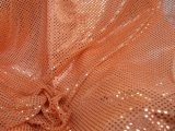 Wholesale Faux Sequin Knit Fabric - 431 Orange  25 yards