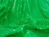 Wholesale Faux Sequin Knit Fabric - Flag Green  25 yards