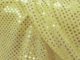 Wholesale Faux Sequin Knit Fabric - 228 Light Gold  25 yards