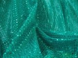 Faux Sequin Knit Fabric - Teal