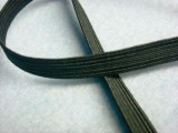 "Wholesale Flat Braided Elastic 1040 - Black 3/8""  144yds"