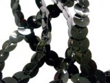 Wholesale Flat Slung Sequins Trim 6mm - Black - 72 yards