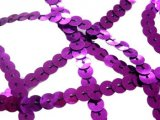 Flat Slung Sequins - Purple,  6mm